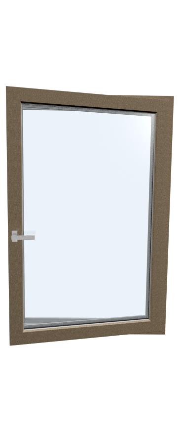 Okno drewniano – aluminiowe HF410 - strona wewnętrzna