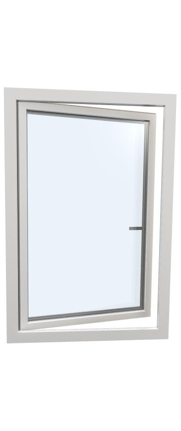 Okno drewniano – aluminiowe HF410 - strona zewnętrzna