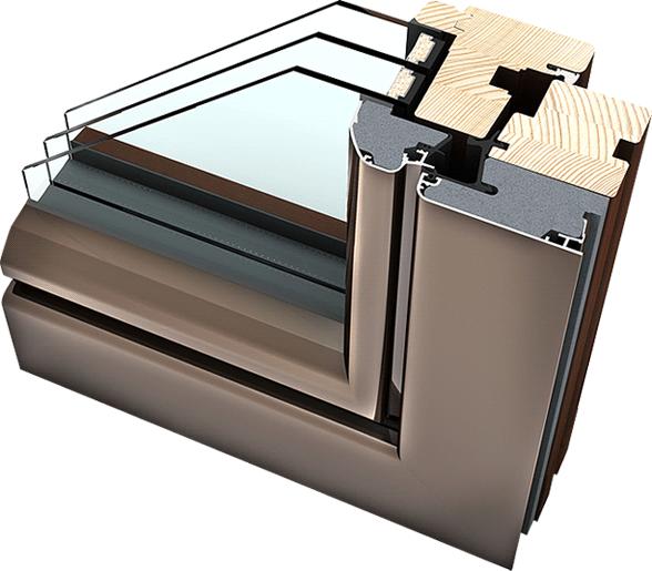 Okno drewniano – aluminiowe HF310 - właściwości