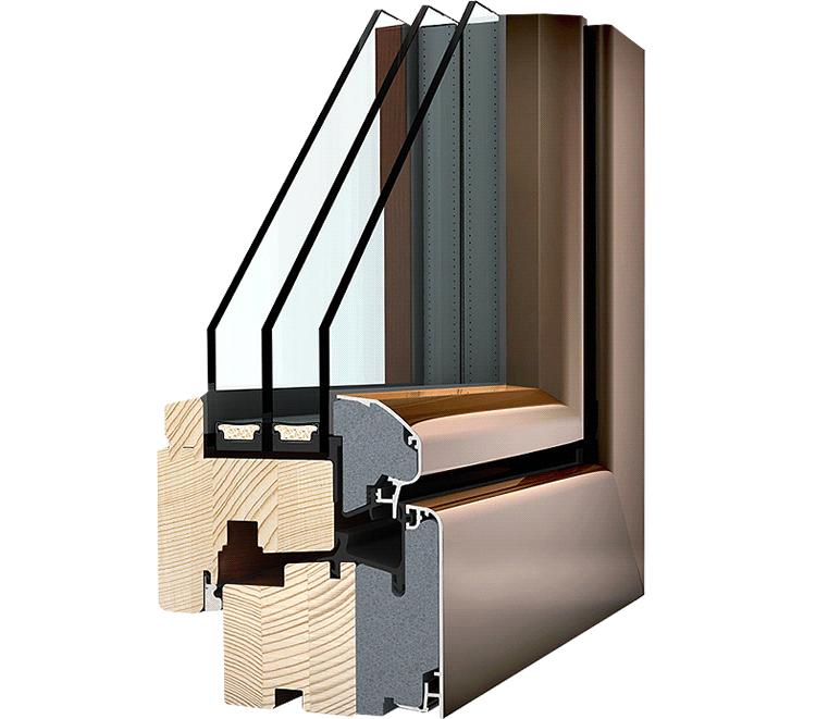 Okno drewniano – aluminiowe HF310